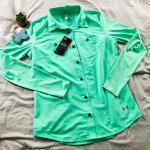 Beautiful Green UA Top NWT.
